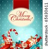 Christmas candies background - stock vector
