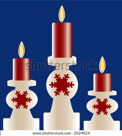 christmas candles - stock vector
