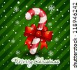 Christmas candy cane decorated - stock vector