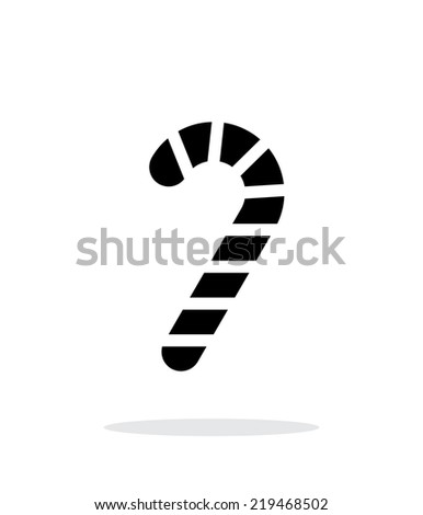 Christmas candy cane icon on white background. Vector illustration. - stock vector