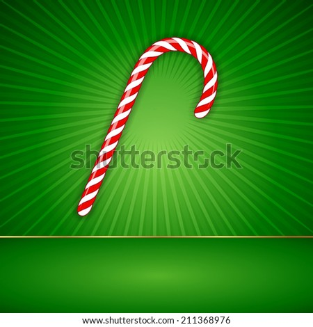 Christmas Candy with Background. Vector illustration
