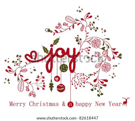 Christmas card 2011 - stock vector