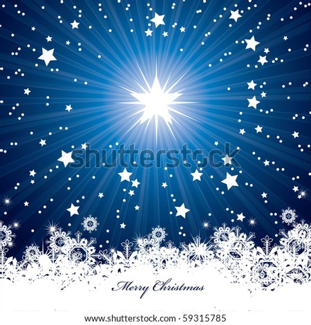 Christmas Card Background. eps10. - stock vector