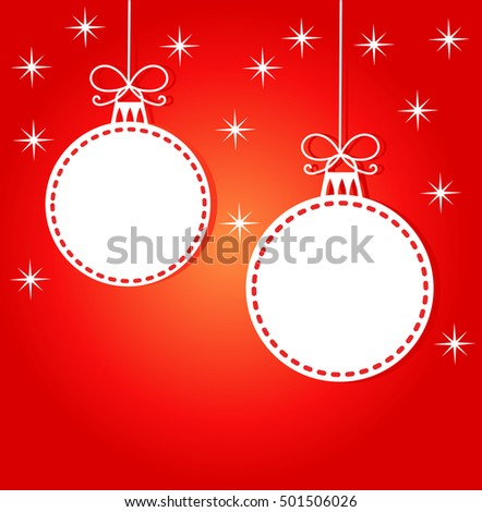 Christmas card background. Vector illustration