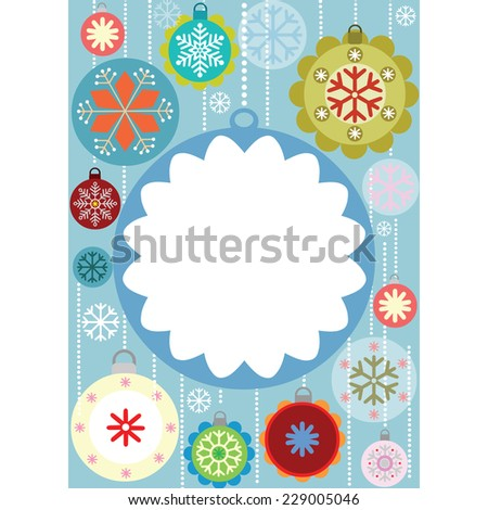 Christmas Card Design - stock vector
