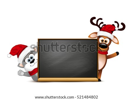 Cartoon Cat Cute Santa Vector Stock Photos, Royalty-Free Images ...