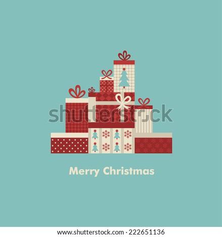 christmas  card design. vector illustration - stock vector