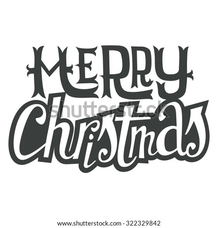 Christmas card. Hand lettering. Decorative pattern. - stock vector