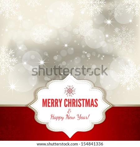 Christmas Card - Illustration - stock vector
