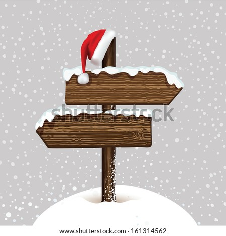 Christmas card in vector - stock vector