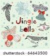 Christmas card. jingle bells - stock
