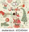 Christmas card. jingle bells - stock vector