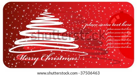 Christmas card vector - stock vector