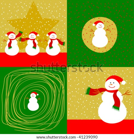 Christmas card vector - stock vector