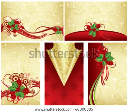Christmas card, vector - stock vector