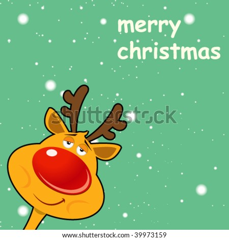 Christmas Card -Vector Art- - stock vector