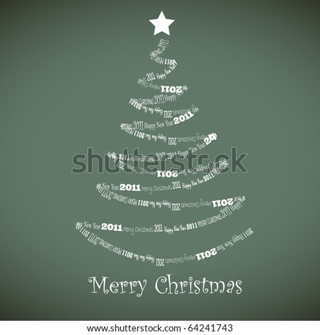 Christmas card. vector 10 eps - stock vector