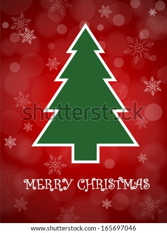 Christmas Card Vector Illustration - stock vector