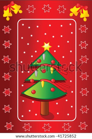 Christmas card. Vector illustration.