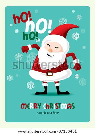 Christmas card with Santa - stock vector