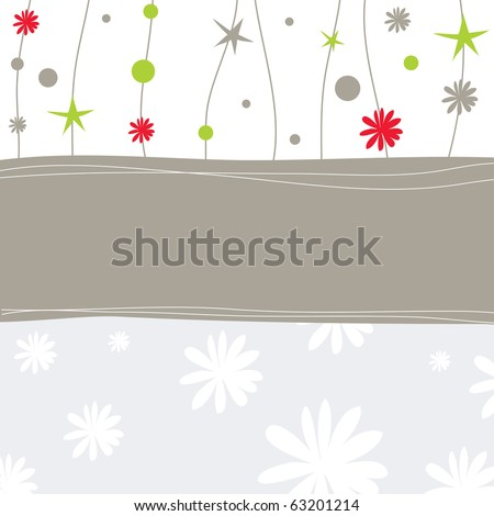 Christmas card with shepes. Vector illustration - stock vector