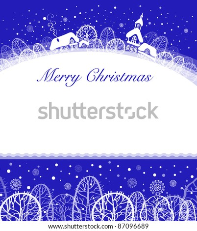 Christmas card with space for text - stock vector