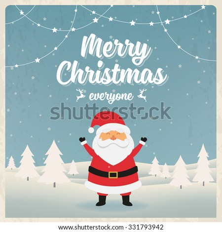 Christmas character design. Vector background - stock vector