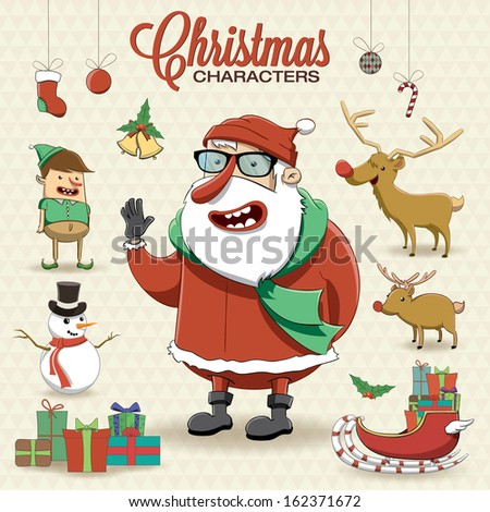 Christmas characters vector illustration