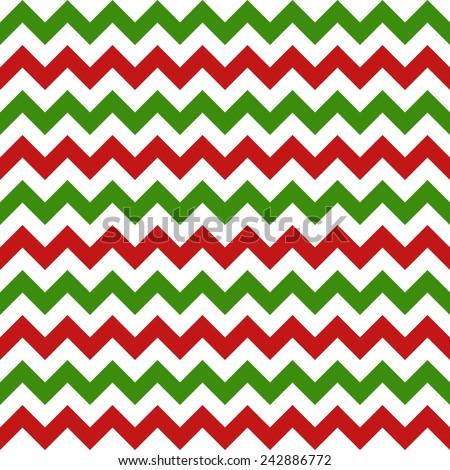 christmas chevron seamless pattern on white background. vector illustration - stock vector