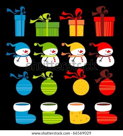 Christmas clip-art - stock vector