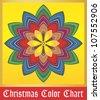 Christmas color swatches - stock vector
