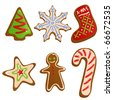 Christmas cookies vector - stock vector
