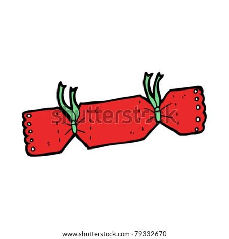 christmas cracker cartoon - stock vector