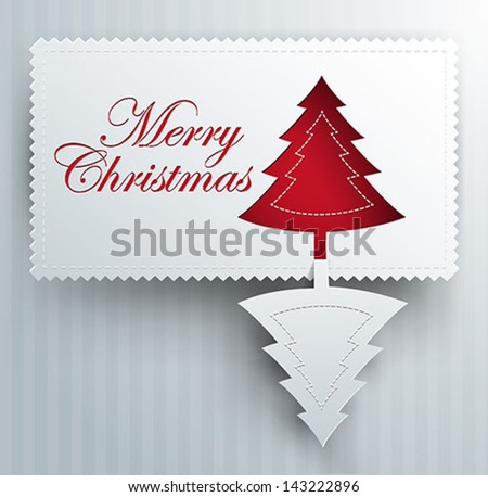 Christmas tree shape letters typographic composition stock for Craft paper card stock