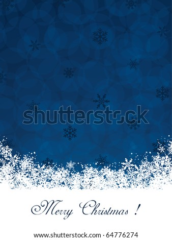 Christmas decoration background with text - stock vector