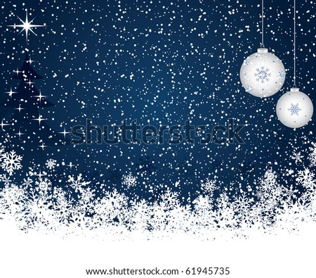 Christmas decoration background with tree - stock vector