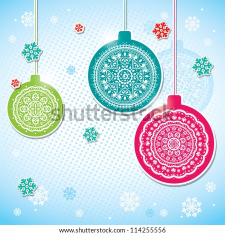 Christmas decoration balls - stock vector