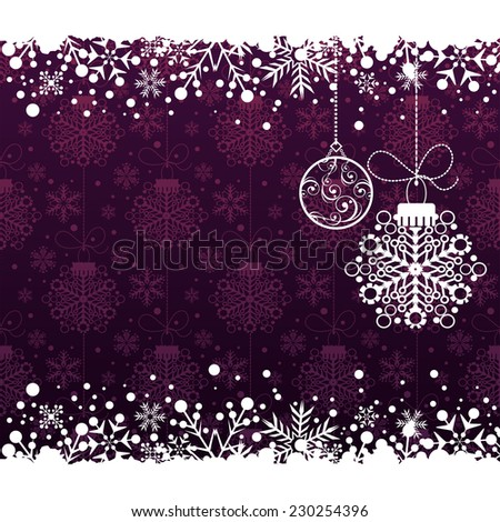 Christmas decoration frame. Christmas decoration. Christmas decor. Christmas wallpaper. Snowflake Abstract Background. - stock vector