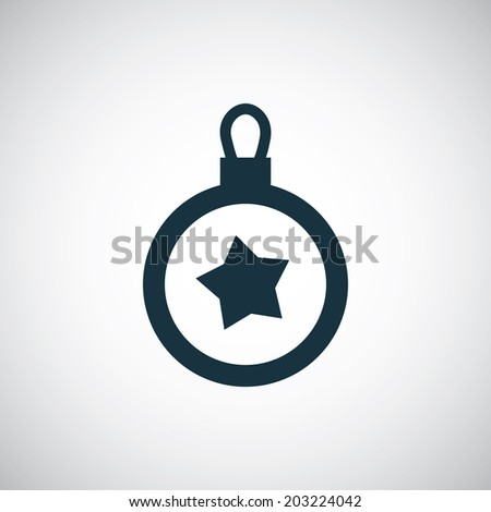 christmas decoration icon - stock vector