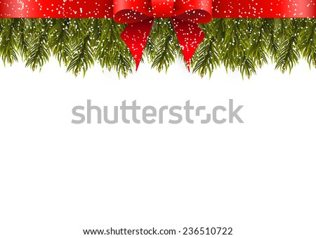 Christmas decoration on white background - stock vector