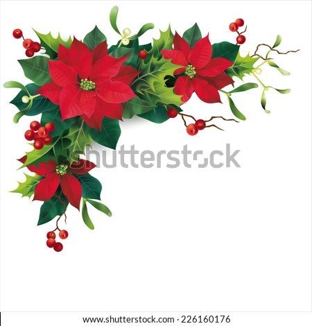 Christmas decoration on white. Vector eps 10. - stock vector