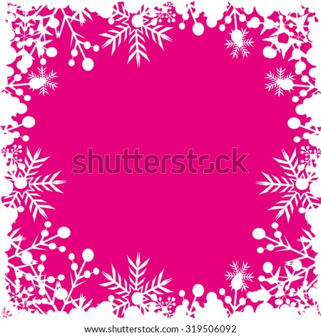 Christmas decoration Pattern wallpaper Holiday background Christmas Card Pink - stock vector