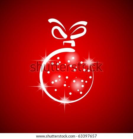 Christmas decoration stylized ball. Vector illustration. EPS10 - stock vector