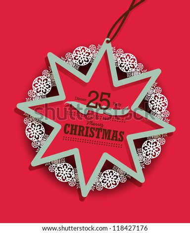 Christmas Decoration Tag - stock vector