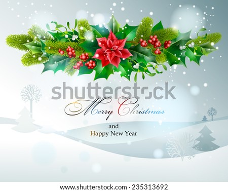 Christmas decoration. Vector  EPS 10. - stock vector