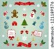 Christmas decoration vector set. - stock vector