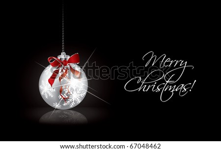 Christmas decoration. Vector version in portfolio. - stock vector