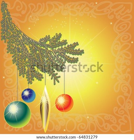 stock-vector-christmas-decoration-with-p