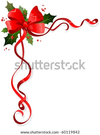 Christmas decoration with space for text - stock vector
