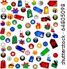 Christmas Decorations -big collection - stock photo